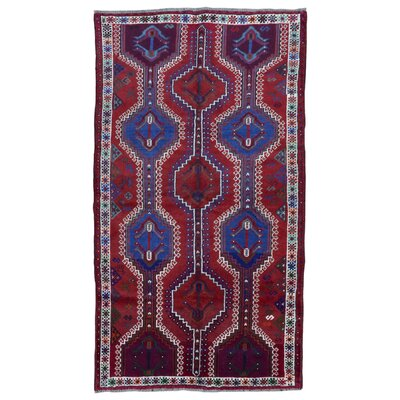 One-of-a-Kind Springdale Persian Hamadan Hand-Knotted Wool Red/Tan Area Rug
