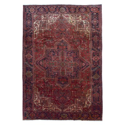 One-of-a-Kind Bethalto Persian Heriz Hand-Knotted Wool Red Area Rug