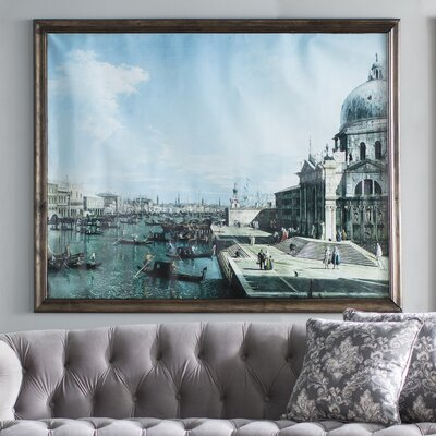 18th 'The Entrance to the Grand Canal and the church of Santa Maria della Salute' by Giovanni Canaletto Graphic Art Print Poster Size: 19