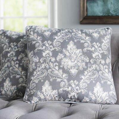 Allentown 100% Cotton Throw Pillow Color: Gray