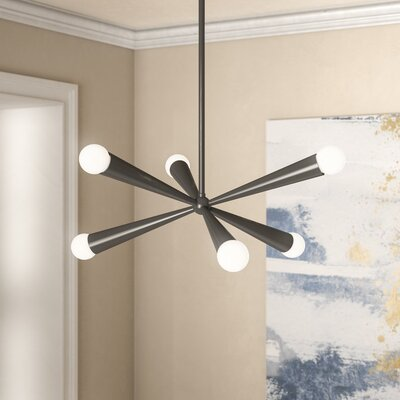 Broomfield 6-Light Sputnik Chandelier Finish: Gloss Black