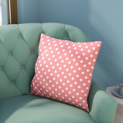 Derrick Indoor/Outdoor Throw Pillow Size: 18 H x 18 W x 3.5 D, Color: Pink