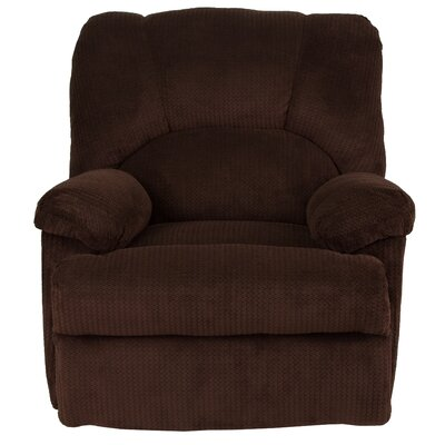 Carel Manual Recline Rocker Recliner Upholstery: Chocolate