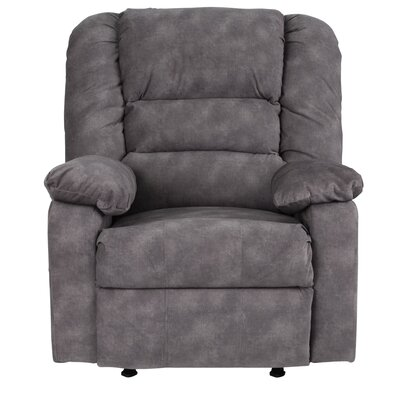 Caress Manual Recline Rocker Recliner Upholstery: Gray