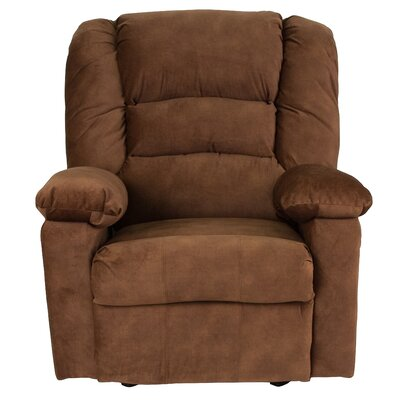 Caress Manual Recline Rocker Recliner Upholstery: Tobacco