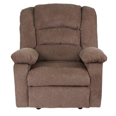 Caress Manual Recline Rocker Recliner Upholstery: Cocoa Chenille