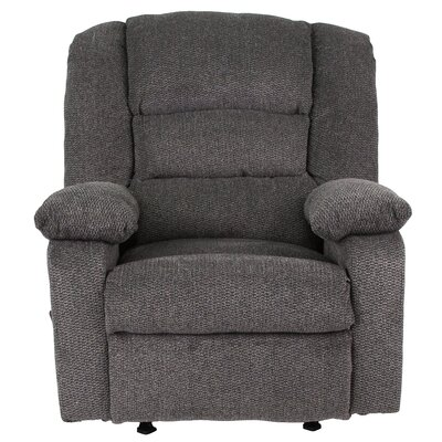 Caress Manual Recline Rocker Recliner Upholstery: Pepper Chenille