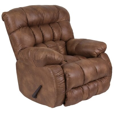 Ragland Manual Rocker Recliner Upholstery: Brown
