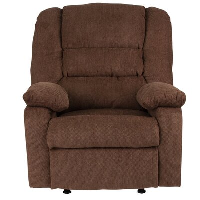 Caress Manual Recline Rocker Recliner Upholstery: Chocolate Chenille