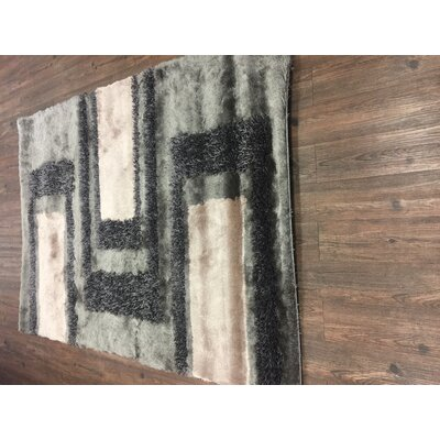 Sebergham Shag Hand-Tufted Beige/Gray Indoor Area Rug