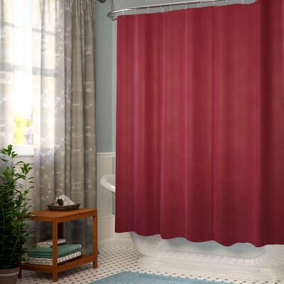 Topeka Heavy Weight Shower Liner Color: Burgundy