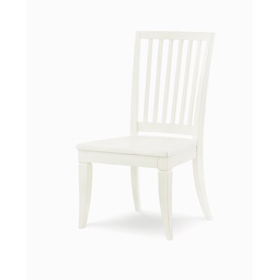 Slat Back Dining Chair (Set of 2) Color: Sea Salt