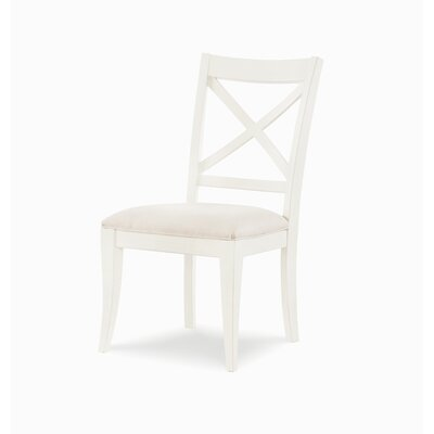 X Back Dining Chair (Set of 2) Color: Sea Salt