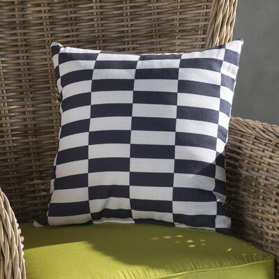 Bo�tes Stair Stepping Stripes Print Outdoor Pillow Color: Bewitching, Size: 20 H x 20 W x 1 D