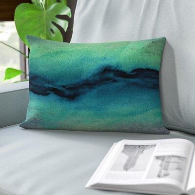 Rayna Golden Lumbar Pillow Color: Indigo/Teal