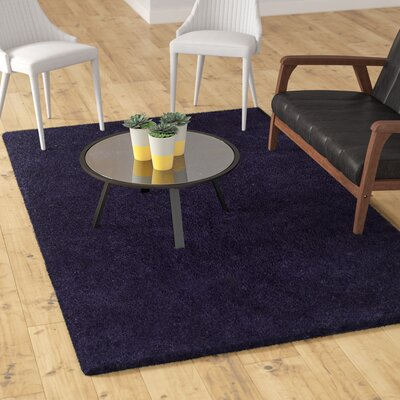 Catharine Hand-Woven Navy Blue Area Rug Rug Size: Rectangle 4 x 6