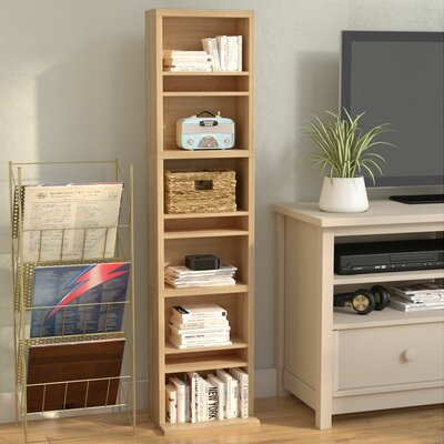 Traditional Wood Multimedia Wall Mounted Storage Rack Color: Maple