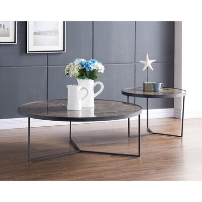 Gaetane 2 Piece Coffee Table Set