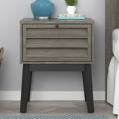 Dover 1 Drawer Nightstand Color: Gray Oak