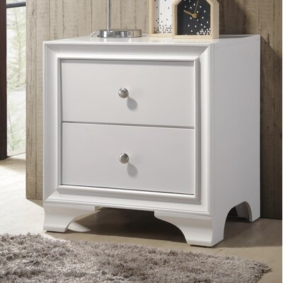 Bowdoin 2 Drawer Nightstand Color: White