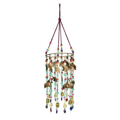 Wrought Iron/Glass Beads Hanging Wind Chime EN18622