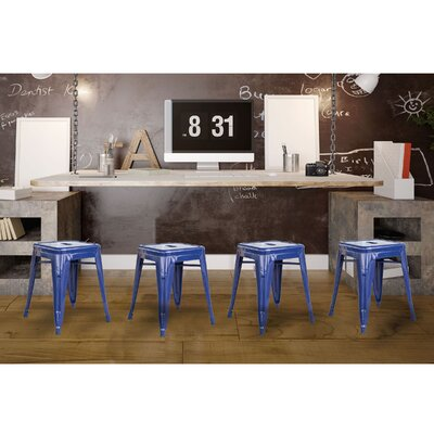 Shelli 18 Bar Stool Color: Blue