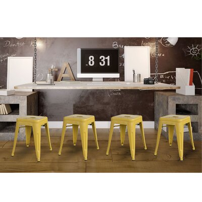 Shelli 18 Bar Stool Color: Gold