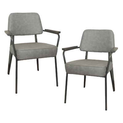 Shelli Fauteuil Direction Armchair Finish: Gray