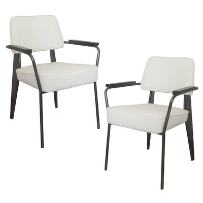 Shelli Fauteuil Direction Armchair Finish: White