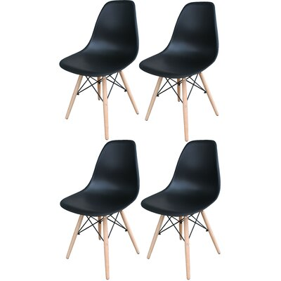 Stembridge Solid Wood Side Chair Finish: Black