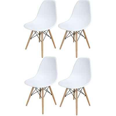 Stembridge Solid Wood Side Chair Finish: White