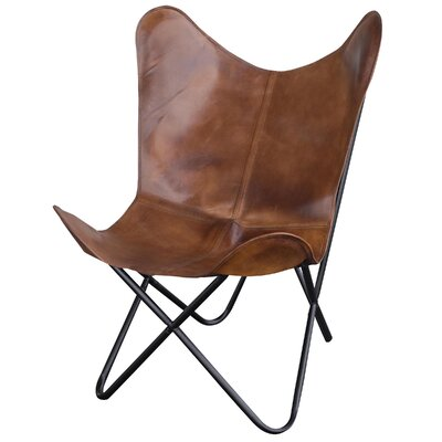 Norwood Butterfly Lounge Chair Upholstery: Tanned