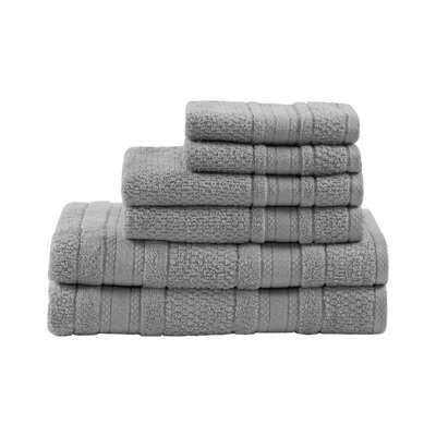 Super Soft Cotton 6 Piece Towel Set Color: Silver