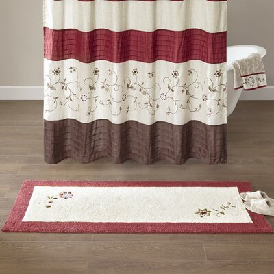 Laurel Embroidered Cotton Tufted Bath Rug Size: Large