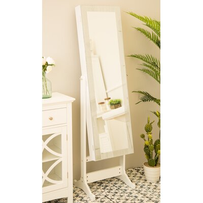 Raglan Standing Jewelry Armoire with Mirror Color: MDF