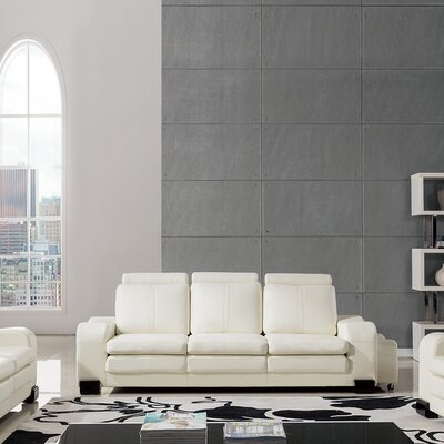 Vierra Modern Sofa Finish: Ivory