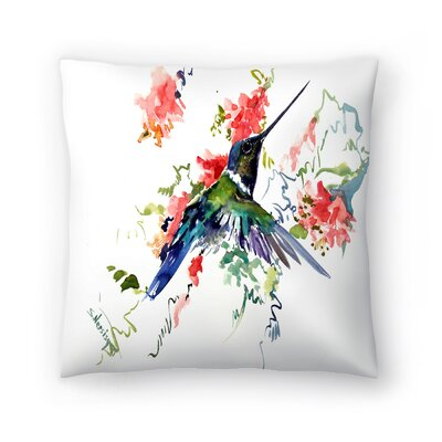 Hummingbird 1 Throw Pillow Size: 18 x 18