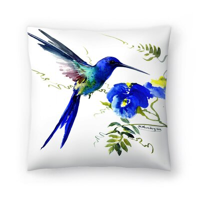 Hummingbird 2 Throw Pillow Size: 20 x 20