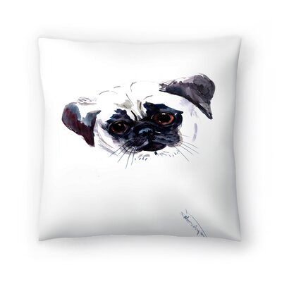 Pug Face 1 Throw Pillow Size: 14 x 14