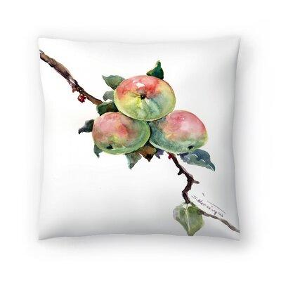 Apples 2 Throw Pillow Size: 14 x 14