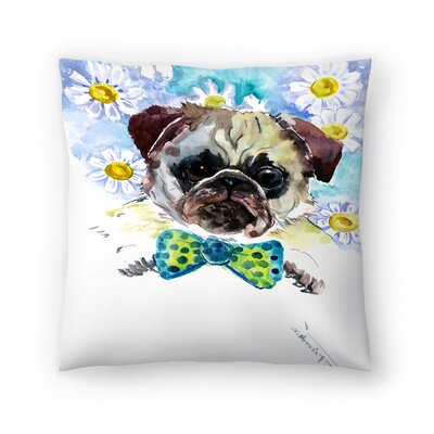 Pug Face 2 Throw Pillow Size: 18 x 18