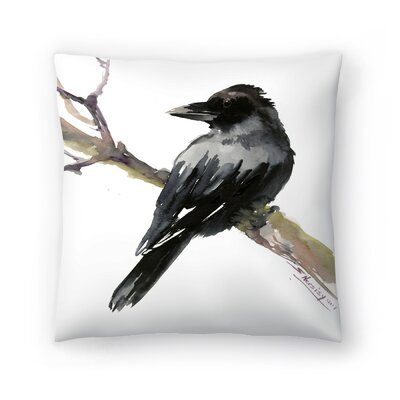 Raven Throw Pillow Size: 20 x 20