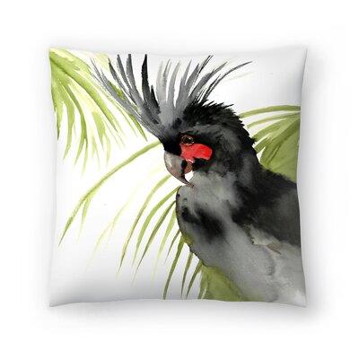 Palm Cockatoo Throw Pillow Size: 16 x 16