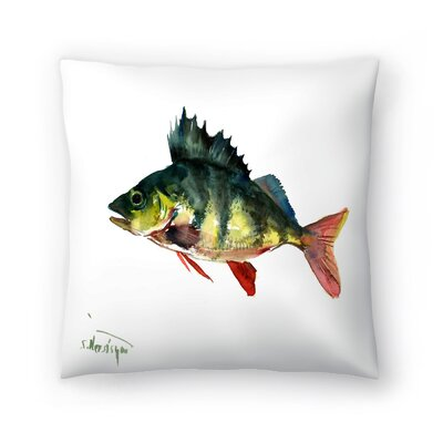 Bass Fish 1 Throw Pillow Size: 14 x 14