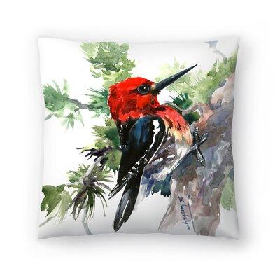 Woodpecker 1 Throw Pillow Size: 20 x 20