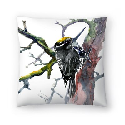 Woodpecker 2 Throw Pillow Size: 16 x 16