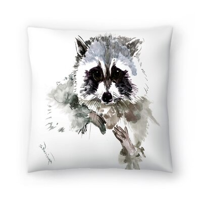Raccoon 1 Throw Pillow Size: 14 x 14
