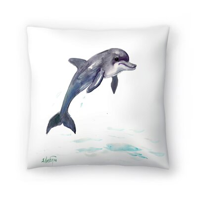 Dolphin Throw Pillow Size: 20 x 20