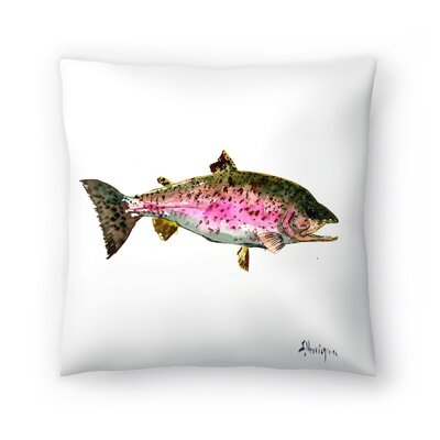 Rainbow Trout 1 Throw Pillow Size: 16 x 16