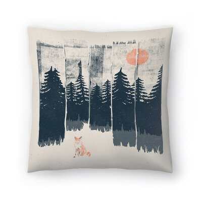 A Fox In The Wild Throw Pillow Size: 14 x 14